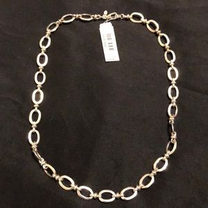 Monet silver link necklace